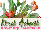 Kzat hacheret – a flower shop in Nazareth Illit