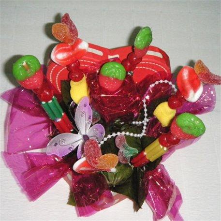 1. זר סוכריות צבעוני